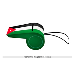 A whistle of hashemite kingdom of jordan vector