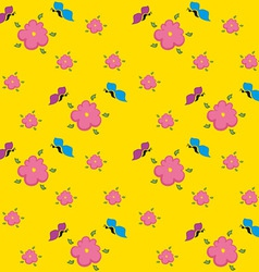 Yellow Floral Pattern vector image