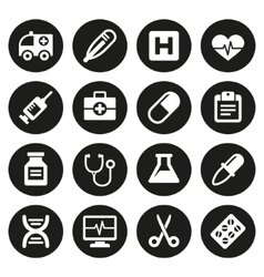 Medical icons set 1 vector image