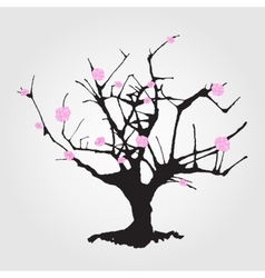 Tree in chinese style vector