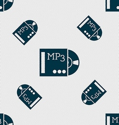 Mp3 player icon sign seamless pattern with vector