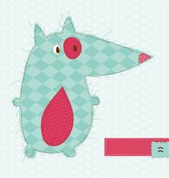Fox greeting card vector
