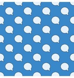 Chat bubble seamless pattern vector