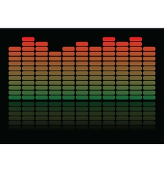 Equalizer colorful equalizer on black background vector