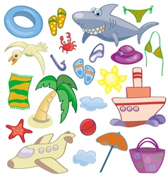 Summer and travel set vector