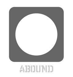 Abound conceptual graphic icon vector
