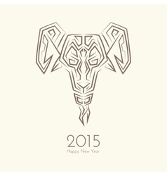 Abstract Goat vector image