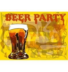 Beer party vector