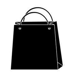 Black icon shopping bag cartoon vector