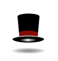 black top hat vector image vector image