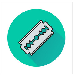 Blade razor icon on circle vector