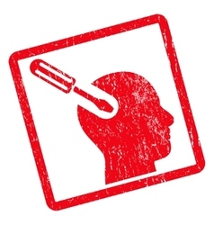 Brain tool icon rubber stamp vector