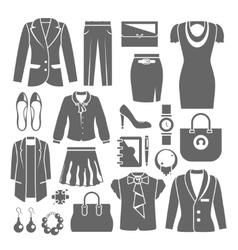 Businesswoman clothes set vector