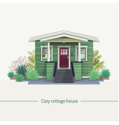 cozy cottage house vector image