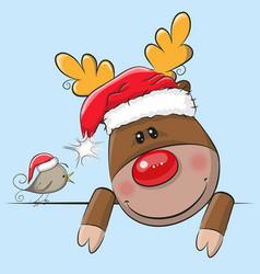Cute christmas deer vector