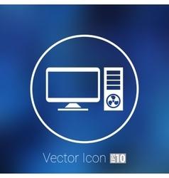 Desktop Computer Icon pc symbol laptop vector image