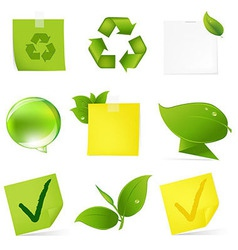 Eco Blank Note Papers vector image vector image