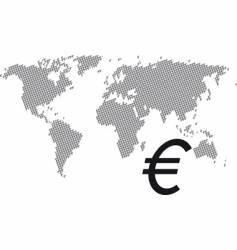 euro world vector image vector image