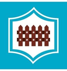 Farm fence wooden icon vector