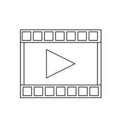 film strip with play video button vector image