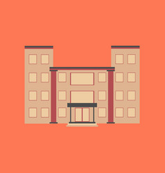 flat icon on stylish background school building vector image