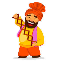 Funny sikh man vector