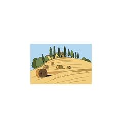 italian landscape vector image