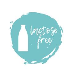 lactose free label food intolerance symbol vector image vector image