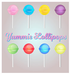 lollipop set vector image