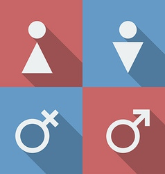 Male and Female symbols icons signs vector image vector image