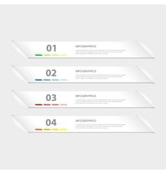 Modern design infographic template vector