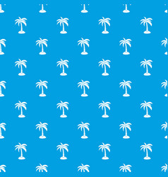 Palm pattern seamless blue vector