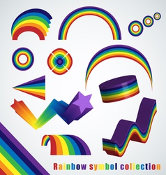 Rainbow symbol set vector image vector image