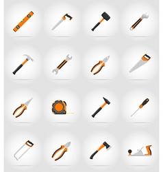 Repair tools flat icons 17 vector