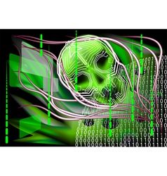Scary technology vector