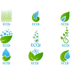 Set of Ecology Icon vector image