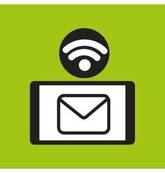 smartphone email internet wifi icon vector image