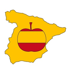 Spanish apple vector
