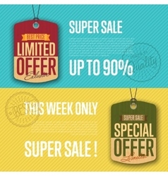 Special and limited offer isolated sale sticker vector