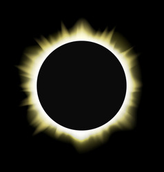 Sun solar eclipse vector