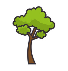 Tree nature symbol vector