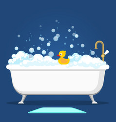 Vntage bath and soap foam bubbles vector