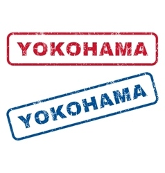 Yokohama rubber stamps vector