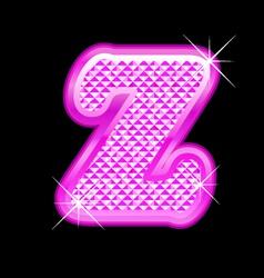 Z letter pink bling girly vector