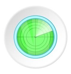 Radar icon cartoon style vector image