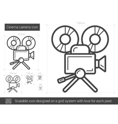 Cinema camera line icon vector