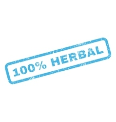 100 percent herbal rubber stamp vector