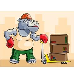 Hippopotamus loader vector image