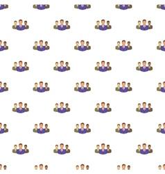 Office team pattern cartoon style vector image