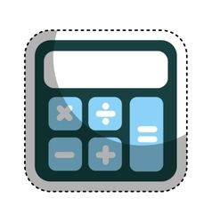 Calculator math isolated icon vector